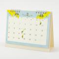 9996148【MIDORI】2021年 リングカレンダー M  トリ柄  31007-006