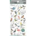 9996605【KAMIO JAPAN】大人の図鑑シール /鳥類編 46648 ◆クロネコDM便可能
