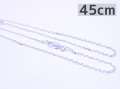9997825【WHEEL WORKS】シルバーチェーン/45cm