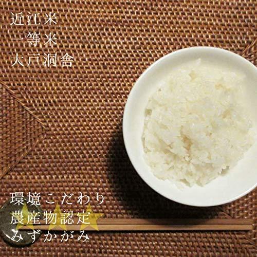 令和2年産 2020年産 完熟近江米 大戸洞舎 検査一等米 減農薬 みずかがみ 30kg