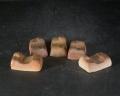 備前焼 登窯 備前焼異色作家 駒形 九磨  黄ゴマ箸置5個組3
