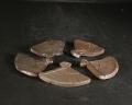 備前焼 登窯 六べえ製作 扇の箸置5個組2