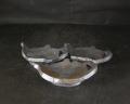 備前焼 登窯 六べえ製作 青備前ランプの豆皿3個組1