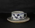 滋賀 八風窯 皿付き唐草コーヒーカップ3