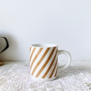 Bjorkマグカップ ベージュストライプ 【6月より順次発送】