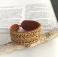 白樺の根とトナカイの革のブレスレット <A>