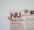 【NEW】お花(Kukka)のPush Pinセット A (ウォ—ルナット・せんの木・チェリー) 【予約商品平成29年8月下旬頃発送】