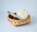 白樺の縁飾りつき パンかご B