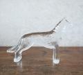 アンティーク 犬のガラスオブジェ <サマーセール>