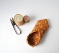 アンティークの白樺の靴(片足)  15cm