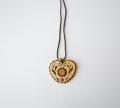 ベレスタ 白樺 ハート形のネックレス (A)
