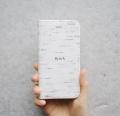 ★ スペシャルプライス!! Bjork(白樺柄) スマートフォン手帳型ケース  【 iPhone8・iPhone7・iPhone6s・iPhone6 対応 】