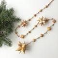 白樺 星のガーランド110cm 星3つタイプ (茶色の紐)