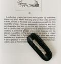 ピューター刺繍のキーリング /ブラック