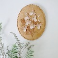 白樺 スミレの壁掛け 楕円