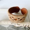 白樺の根とトナカイの革のブレスレット <C>