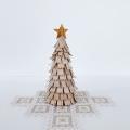 白樺 白のクリスマスツリー 高さ18cm
