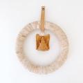 白樺のシンプルリース エンジェル付き (直径23cm)