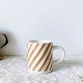 Bjorkマグカップ ベージュストライプ