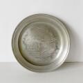 サーミ・ピューターの絵皿 19cm