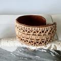 白樺の根とトナカイの革のブレスレット <B>