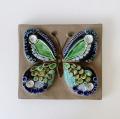 Jie Gantofta 社 (ジイ・ガントフタ )/Annika Kihlman(アニカ・キールマン)/ 陶板の壁飾り(ブルーの蝶々)