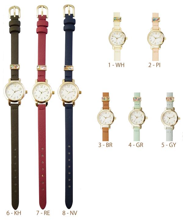 メール便 送料無料 腕時計 イシュター レディース アナログ おしゃれ 人気 カジュアル シンプル 革ベルト