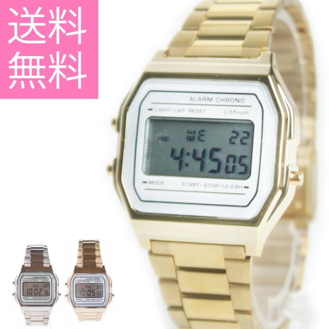 【在庫処分セール】メール便 送料無料 カッシー 腕時計 メンズ ステンレス デジタル ウォッチ レディース ビジネス 大人 メタルボディ 小物 父の日 プレゼント フィールドワーク DT143 stp
