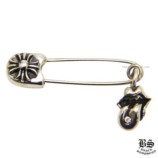 クロムハーツ chromehearts リップ&タン CHプラス セーフティピンwithダイヤモンド スモール