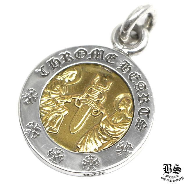 クロムハーツ chrome hearts エンジェルメダルチャームV2 シルバー&ゴールド22K 税込 448,740円