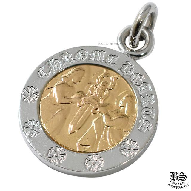 クロムハーツ エンジェルメダルチャームV2 ホワイトゴールド18K&ゴールド22K