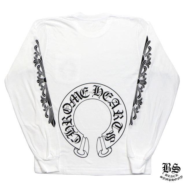 クロムハーツ chrome hearts ロングTシャツ ホースシュー&フローラルクロス ホワイト 税込 ¥40,150