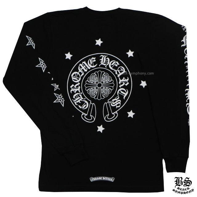 クロムハーツ chrome hearts ロングTシャツ ホースシュー&スター ブラック 税込 ¥40,150
