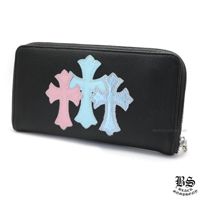 クロムハーツ chrome hearts REC F ジップ #2 レザー ブルー&ピンク 3セメタリークロスパッチ 税込 305,370円