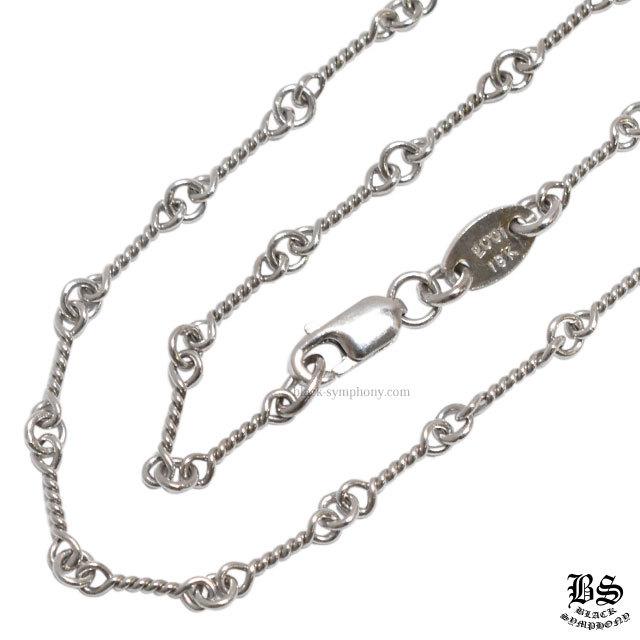 クロムハーツ ネックレス ツイストチェーン ホワイトゴールド 18K 18インチ(約45cm)