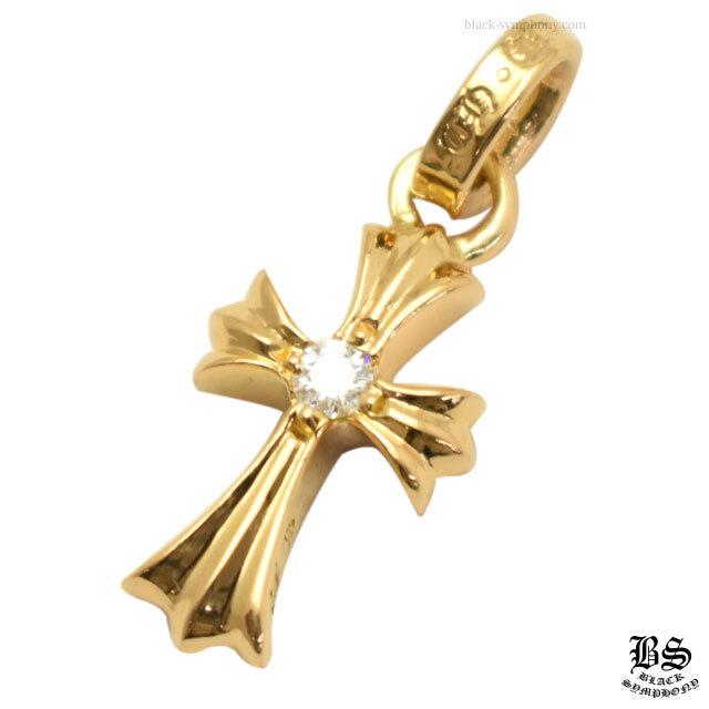 クロムハーツ chrome hearts CHクロスベビーファットチャーム22K withシングルダイヤモンド 税込 ¥49,610