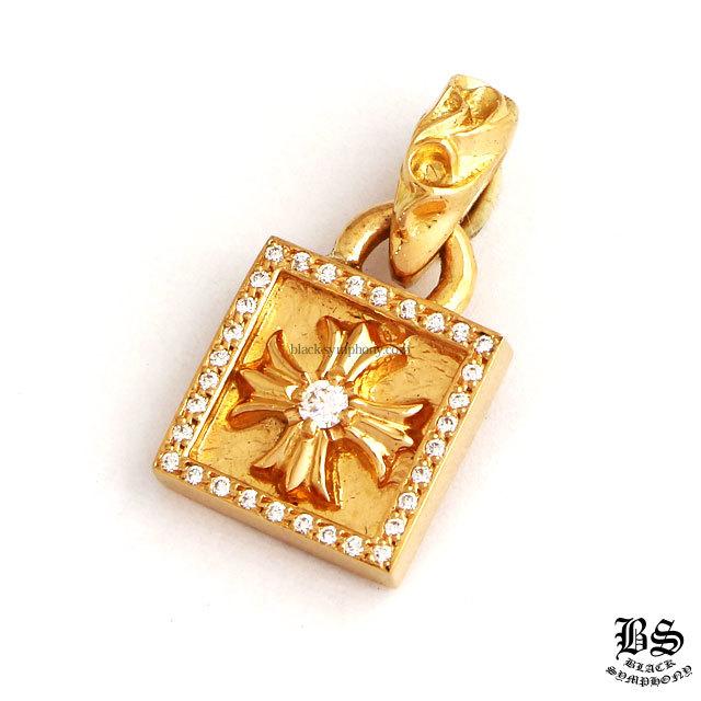 クロムハーツ chrome hearts フレームドCHプラスチャームwithパヴェダイヤモンド22K 税込 ¥668,800