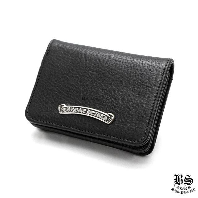 クロムハーツ chrome hearts レザーカードケース#2 3ポケット ブラック ヘビーレザー 税込 ¥101,750