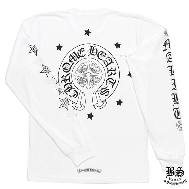 クロムハーツ chrome hearts ロングTシャツ ホースシュー&スター ホワイト 税込 ¥40,150