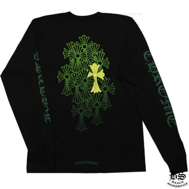 クロムハーツ ロングTシャツ グリーンセメタリークロス ブラック