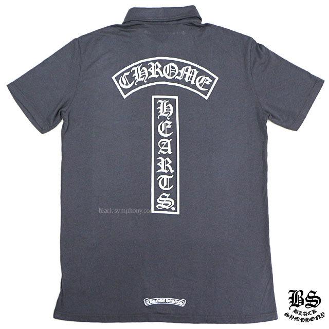 クロムハーツ ポロシャツ ホースシューBSフレアボタン グレイ