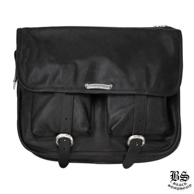 クロムハーツ ソフト ショルダー バッグ ブラックレザー ラージ  税込 ¥650,870