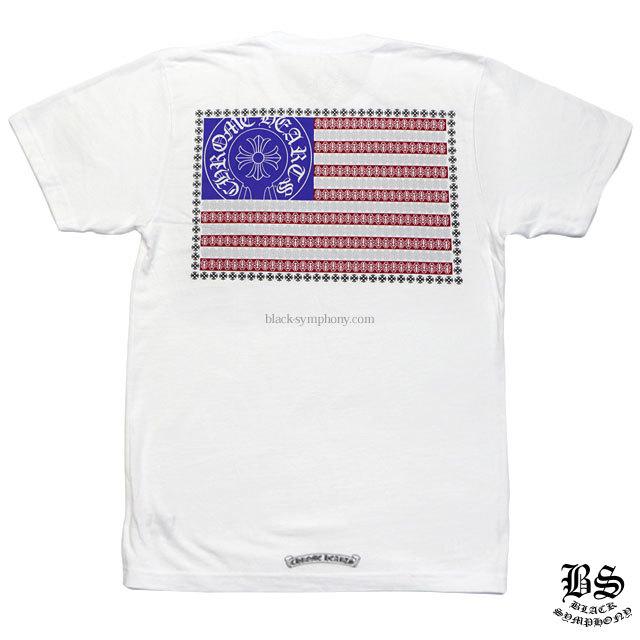 クロムハーツ Tシャツ スターズ&ストライプス ホワイト