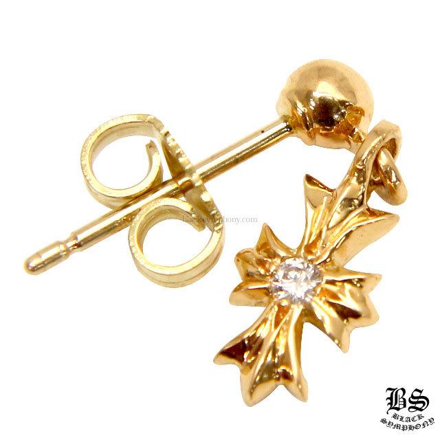 クロムハーツ chrome hearts  タイニーE CHプラスドロップイヤリング 22Kゴールド withダイヤモンド  税込 \177,980円
