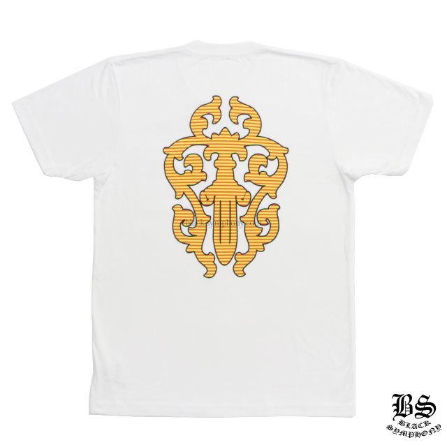 クロムハーツ Tシャツ ヘアリーダガー ヤイクスストライプ ホワイト