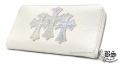 クロムハーツ REC F ジップ #2 3セメタリークロスパッチ メタリック ウォレット ホワイト