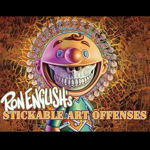 Ron English(ロン・イングリッシュ): Stickable Art Offenses(ステッカブル・アート・オフェンス) ステッカーアート本