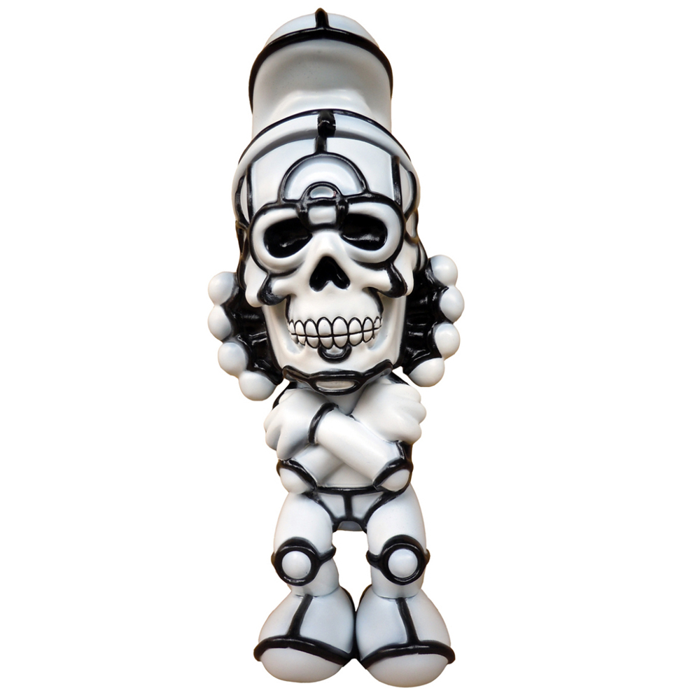 "David Flores x HellFire Canyon Club x BlackBook Toy:Deathead S'murks ""Ghost"" Toy Art Gallery Exclusive"
