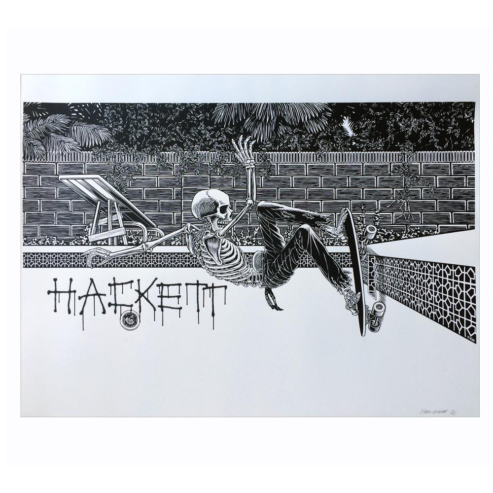 Marc McKee(マーク・マッキー) Hackett シルクスクリーンポスター