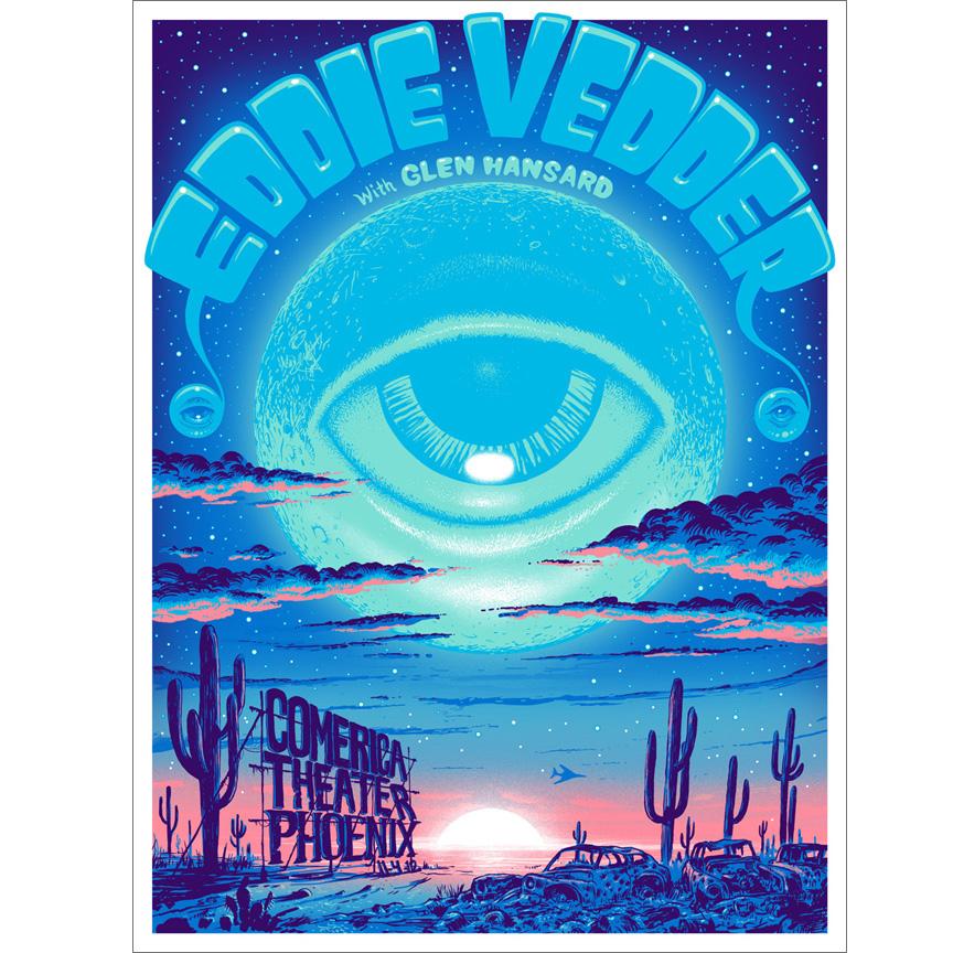 Jeff Soto(ジェフ・ソート) Eddie Vedder(エディ・ヴェダー) Phoneix 2012 シルクスクリーンポスター